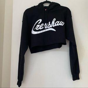 MARATHON CLOTHING Crenshaw cropped hoodie